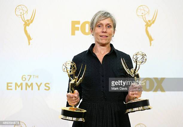 Actress Frances McDormand winner of the award for Outstanding Lead Actress in a Limited Series or Movie for 'Olive Kitteridge' and the award for...