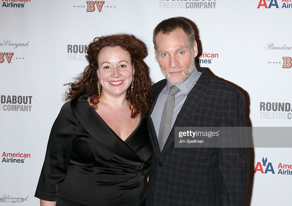 Actress Frances Mercanti-Anthony and Peter Bradbury attend 'Cyrano De Bergerac' Broadway Opening Night After Party at American Airlines Theatre on October 11, 2012 in New York City.