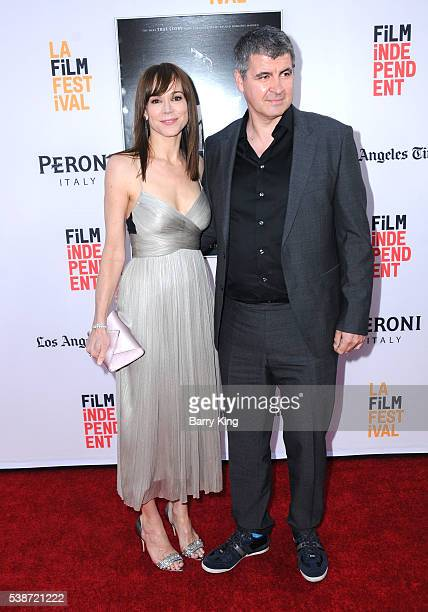 Actress Frances O'Connor and actor/husband Gerald Lepkowski attend 2016 Los Angeles Film Festival 'The Conjuring 2' premiere at TCL Chinese Theatre...