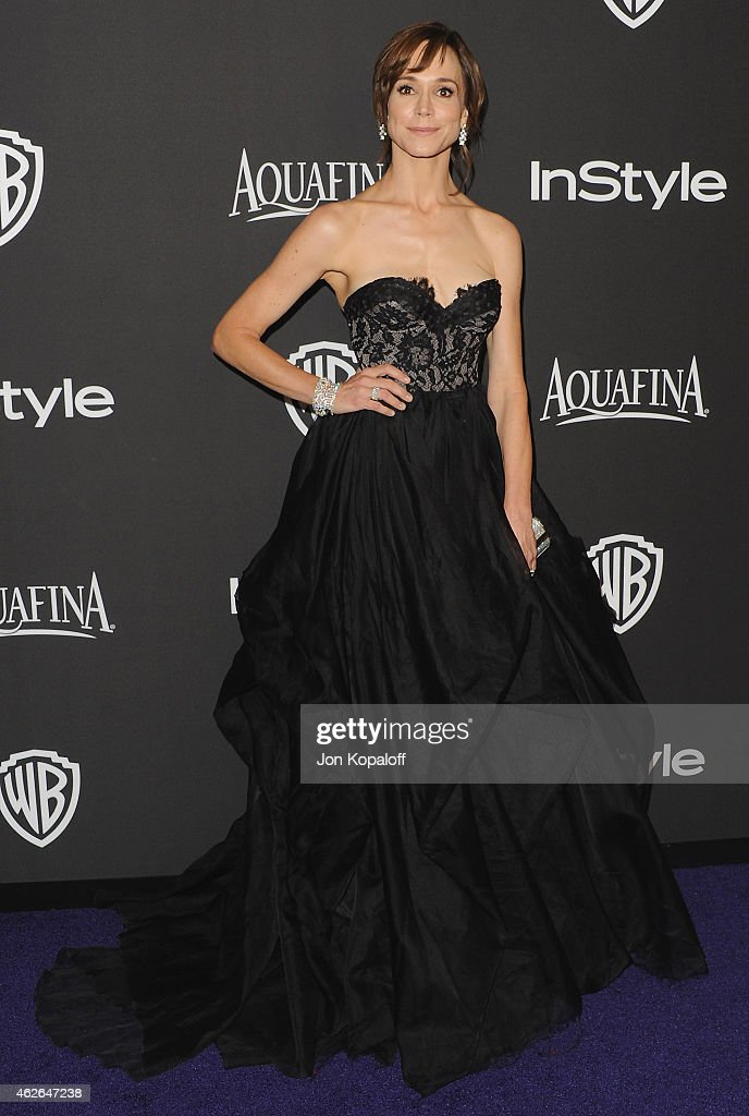 Actress Frances O'Connor arrives at the 16th Annual Warner Bros. And InStyle Post-Golden Globe Party at The Beverly Hilton Hotel on January 11, 2015 in Beverly Hills, California.