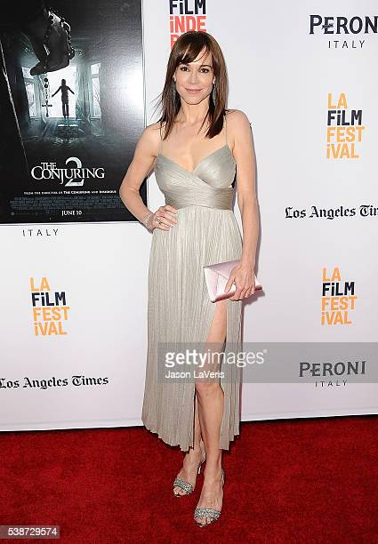 """Actress Frances O'Connor attends the premiere of """"The Conjuring 2"""" at the 2016 Los Angeles Film Festival at TCL Chinese Theatre IMAX on June 7, 2016..."""