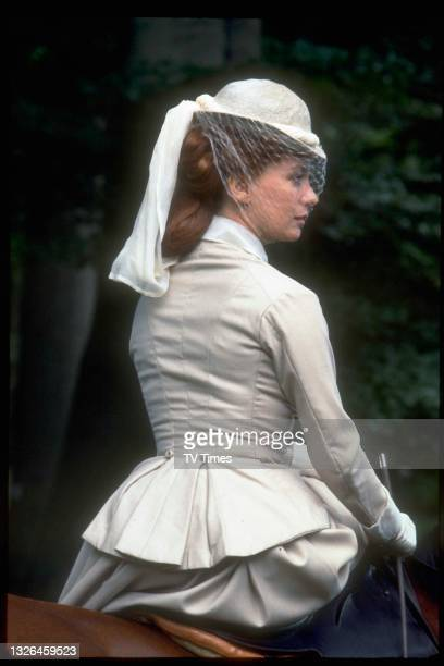 Actress Francesca Annis in character as Lillie Langtry in period drama Lillie, circa 1978.