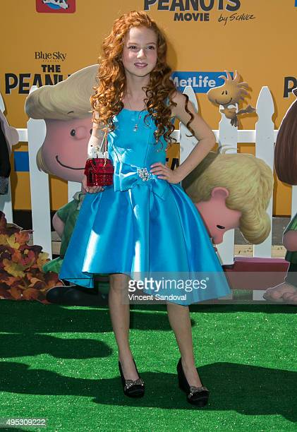 Actress Francesca Capaldi attends the premiere of 20th Century Fox's The Peanuts Movie at Regency Village Theatre on November 1 2015 in Westwood...