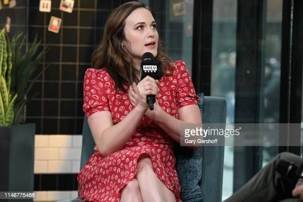 Actress Francesca Carpanini visits the Build Series to discuss the Broadway show 'All My Sons' at Build Studio on May 03 2019 in New York City