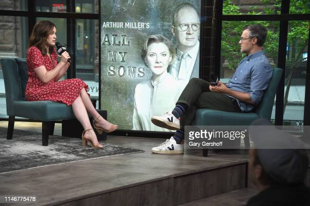Actress Francesca Carpanini visits the Build Series with moderator Ricky Camilleri to discuss the Broadway show 'All My Sons' at Build Studio on May...