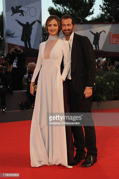 Actress Francesca Cavallin and Stefano Remigi attend the Tracks Premiere during the 70th Venice International Film Festival at Sala Grande on August...