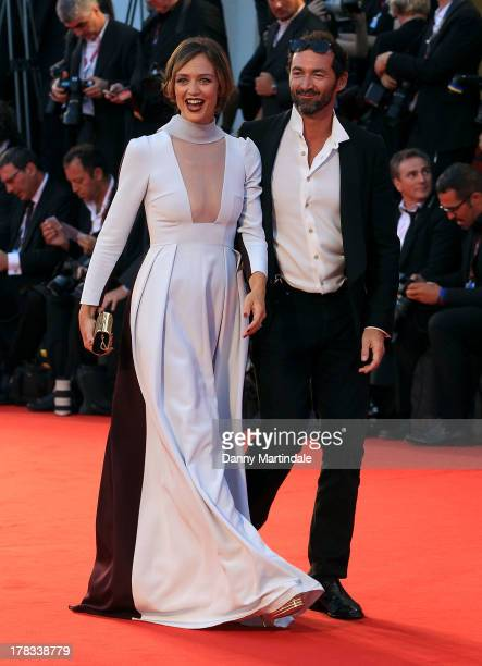 Actress Francesca Cavallin and Stefano Remigi attend the Tracks Premiere during the 70th Venice International Film Festival on August 29 2013 in...