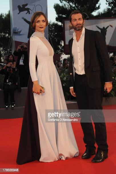 Actress Francesca Cavallin and Stefano Remigi attends the Tracks Premiere during the 70th Venice International Film Festival at Sala Grande on August...