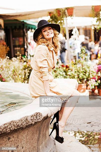 Actress Francesca Cavallin is photographed for Self Assignment on September 15 2011 in Rome Italy