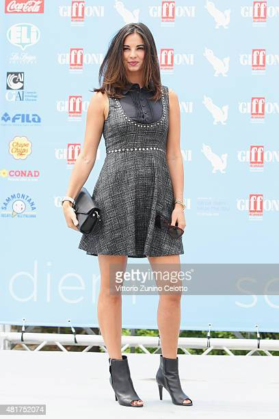 Actress Francesca Chillemi attends Giffoni Film Festival 2015 photocall on July 23, 2015 in Giffoni Valle Piana, Italy.