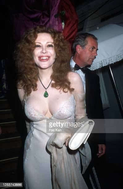 Actress Francesca Dellera attends the 44th Cannes film Festival, in May 1991, in Cannes, France.
