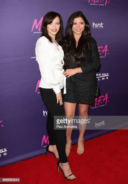 Actress Francesca Eastwood and Her Sister Morgan Eastwood attend the premiere of Dark Sky Films' MFA at The London West Hollywood on October 2 2017...