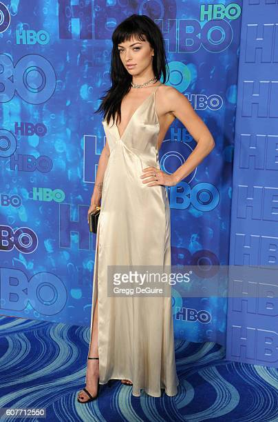 Actress Francesca Eastwood arrives at HBO's Post Emmy Awards Reception at The Plaza at the Pacific Design Center on September 18 2016 in Los Angeles...