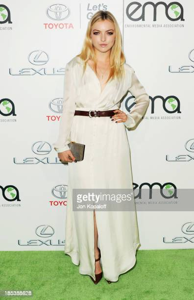 Actress Francesca Eastwood arrives at the 2013 Environmental Media Awards at Warner Bros Studios on October 19 2013 in Burbank California