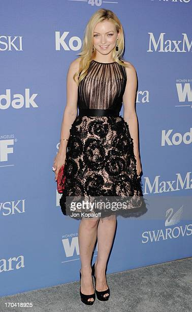 Actress Francesca Eastwood arrives at the 2013 Women In Film's Crystal Lucy Awards at The Beverly Hilton Hotel on June 12 2013 in Beverly Hills...