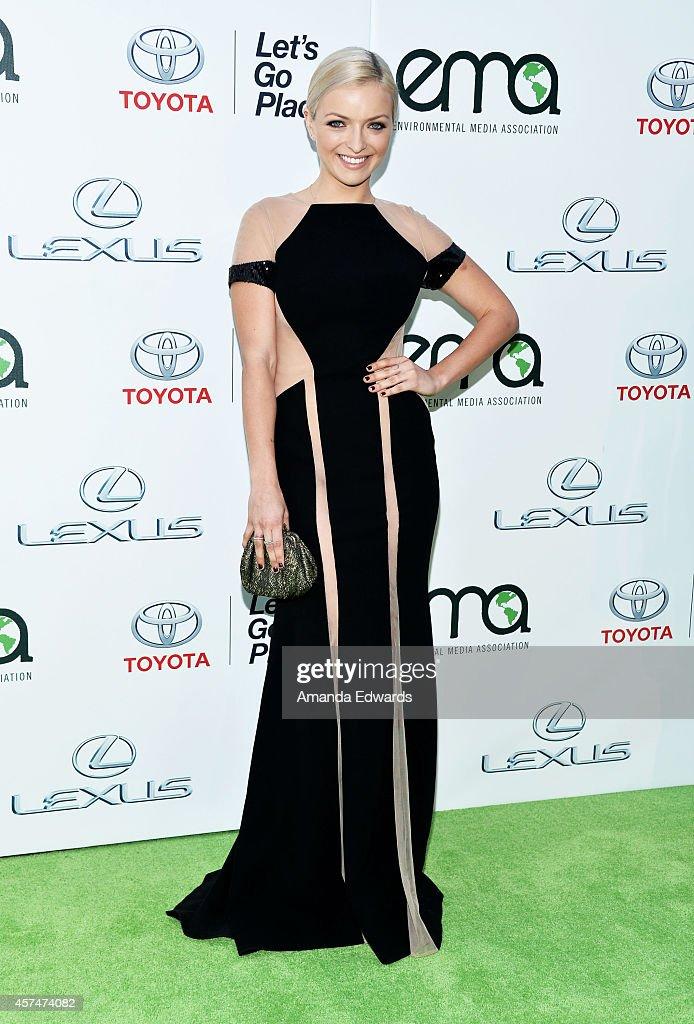 Actress Francesca Eastwood arrives at the 2014 Environmental Media Awards at Warner Bros. Studios on October 18, 2014 in Burbank, California.