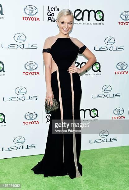 Actress Francesca Eastwood arrives at the 2014 Environmental Media Awards at Warner Bros Studios on October 18 2014 in Burbank California