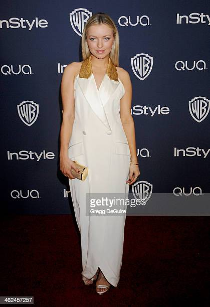 Actress Francesca Eastwood arrives at the 2014 InStyle And Warner Bros 71st Annual Golden Globe Awards postparty at The Beverly Hilton Hotel on...