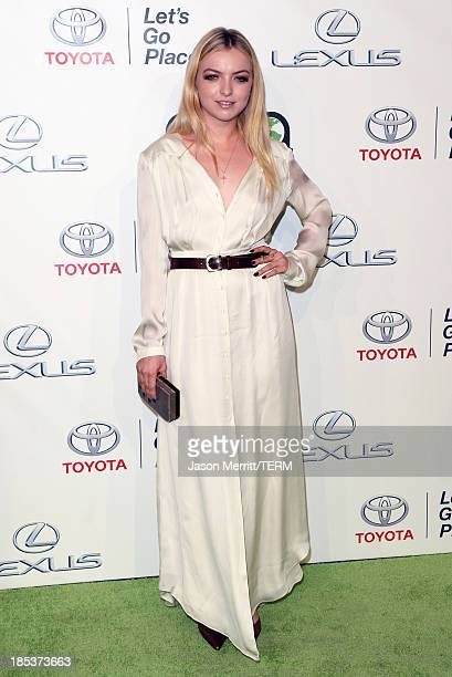 Actress Francesca Eastwood arrives at the 23rd Annual Environmental Media Awards presented by Toyota and Lexus at Warner Bros Studios on October 19...
