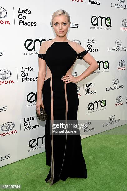 Actress Francesca Eastwood attends the 24th Annual Environmental Media Awards presented by Toyota and Lexus at Warner Bros Studio on October 18 2014...