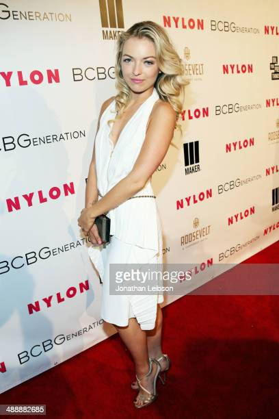 Actress Francesca Eastwood attends the Nylon BCBGeneration May Young Hollywood Party at Hollywood Roosevelt Hotel on May 8 2014 in Hollywood...