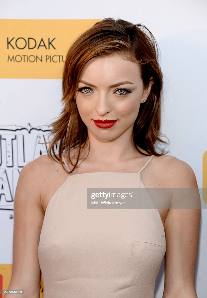 Actress Francesca Eastwood attends the premiere of Momentum Pictures' 'Outlaws And Angels' at Ahrya Fine Arts Movie Theater on July 12, 2016 in Beverly Hills, California.