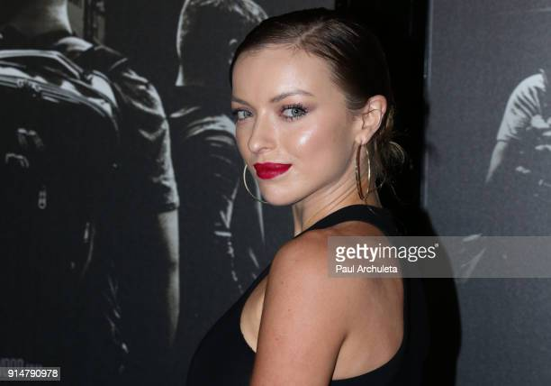Actress Francesca Eastwood attends the premiere of The 1517 To Paris at Warner Bros Studios on February 5 2018 in Burbank California