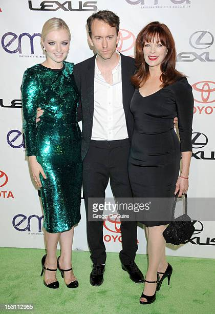 Actress Francesca Eastwood Tyler Shields and Frances Fisher arrive at the 2012 Environmental Media Awards at Warner Bros Studios on September 29 2012...