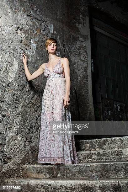 Actress Francesca Inaudi is photographed for Self Assignment on December 12 2015 in Rome Italy PUBLISHED IMAGE