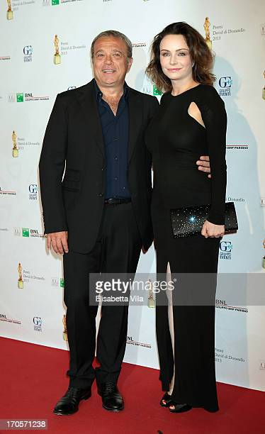 Actress Francesca Neri and actor Claudio Amendola attend 2013 Premi David di Donatello Ceremony Awards at Dear RAI Studios on June 14 2013 in Rome...