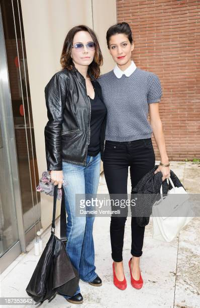 Actress Francesca Neri and actress Giulia Bevilacqua attend the Rome Film Festival Opening Press Conference during the 8th Rome Film Festival at the...