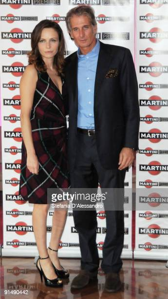 Actress Francesca Neri and Massimiliano Finazzer Flory attend the Martini Premiere Award Photocall at the Terrazza Martini on October 6 2009 in Milan...