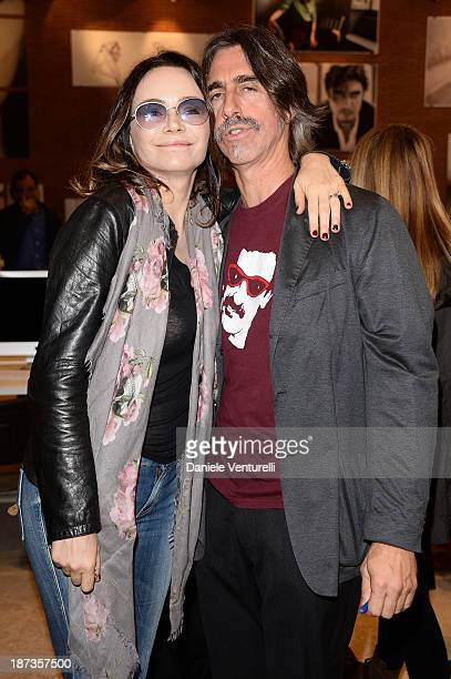 Actress Francesca Neri and photographer Fabio Lovino attend the Rome Film Festival Opening Press Conference during the 8th Rome Film Festival at the...