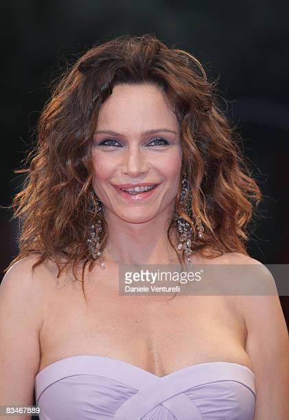 Actress Francesca Neri attend the 'Il Papa Di Giovanna' film premiere at the Sala Grande during the 65th Venice Film Festival on August 31 2008 in...
