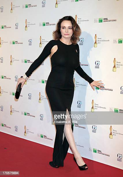 Actress Francesca Neri attends 2013 Premi David di Donatello Ceremony Awards at Dear RAI Studios on June 14 2013 in Rome Italy