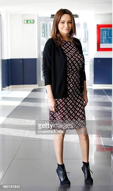 Actress Francesca Neri attends 'Il Ricco Il Povero Il Maggiordomo' photocall at Adriano Cinema on December 9 2014 in Rome Italy