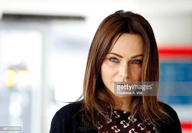 Actress Francesca Neri attends 'Il Ricco Il Povero Il Maggiordomo' photocall at Adriano Cinema on December 9 2014 in Rome Italy