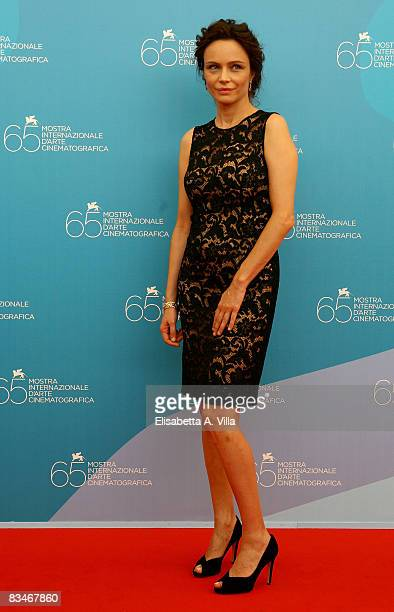 Actress Francesca Neri attends the Il Papa Di Giovanna Photocall at the Piazzale del Casino during the 65th Venice Film Festival on August 31 2008 in...