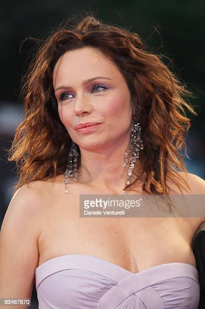 Actress Francesca Neri attends the Il Papa Di Giovanna Premiere at the Sala Grande during the 65th Venice Film Festival on August 31 2008 in Venice...