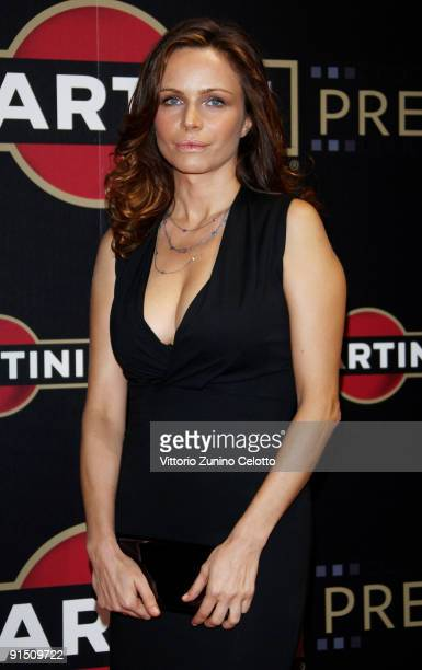 Actress Francesca Neri attends the Martini Premiere Award Ceremony Red Carpet at Palazzo Reale on October 6 2009 in Milan Italy