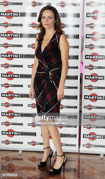 Actress Francesca Neri attends the Martini Premiere Award Photocall at the Terrazza Martini on October 6 2009 in Milan Italy