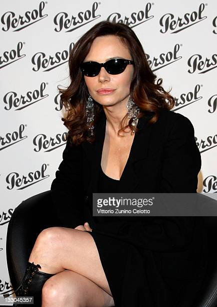 Actress Francesca Neri attends the Persol event at Otto Zoo art Gallery on April 21 2009 in Milan Italy