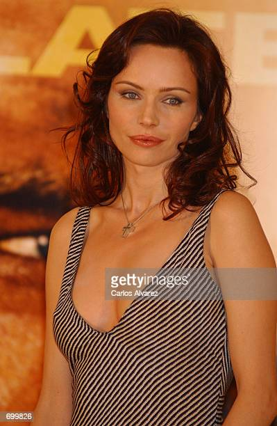 Actress Francesca Neri attends the promotion of her new movie 'Collateral Damage' February 8 2002 at the Hotel Villamagna in Madrid Spain
