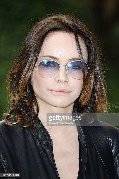 Actress Francesca Neri attends the Rome Film Festival Opening Press Conference during the 8th Rome Film Festival at the Auditorium Parco Della Musica...