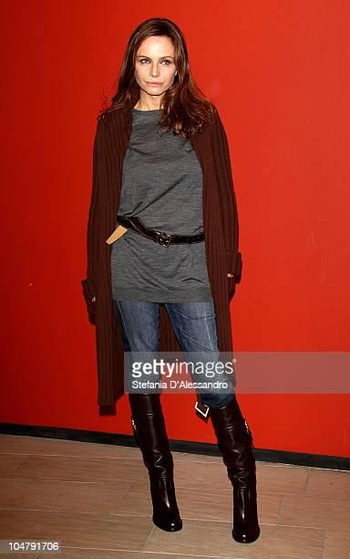 Actress Francesca Neri attends 'Una Sconfinata Giovinezza' Milan Photocall held at Cinema Apollo on October 5, 2010 in Milan, Italy.