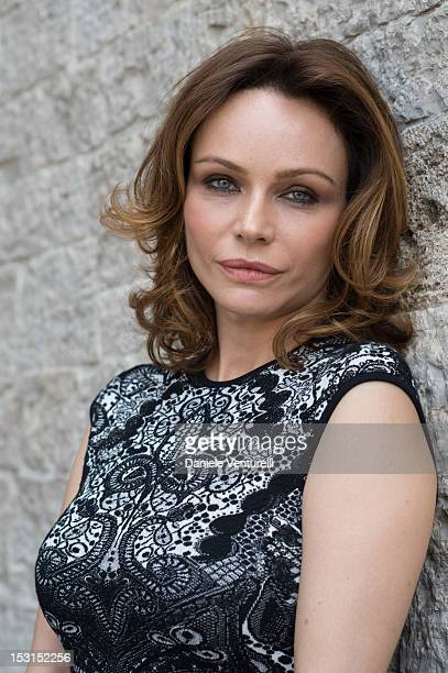 Actress Francesca Neri poses during a photocall for the 'Una Famiglia Perfetta' on October 1 2012 in Todi Italy