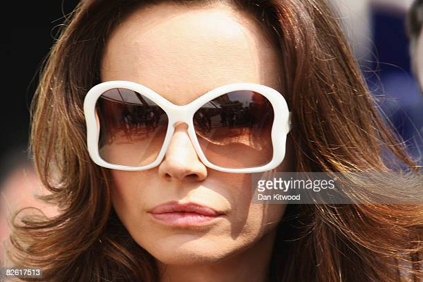 Actress Francesca Neri poses for the press while walking through Venice during the 65th Venice Film Festival on September 1 2008 in Venice Italy