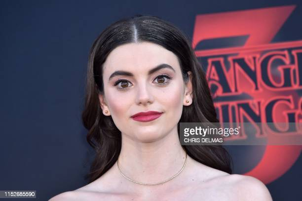 US actress Francesca Reale attends Netflix's Stranger Things 3 premiere at Santa Monica high school Barnum Hall on June 28 2019 in Santa Monica...