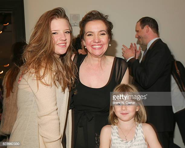 Actress Francesca Scorsese director Domenica CameronScorsese and Lily Henderson attend the Almost Paris premiere after party on April 24 2016 in New...