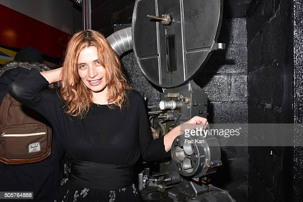 Actress Francesca Tasini attends the 'Polish Hope' Short Movie Screening Party at Cinema Grand Action on January 19 2016 in Paris France
